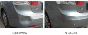 usuwanie wgnieceń po szkodzie, renowacja lakieru samochodowego